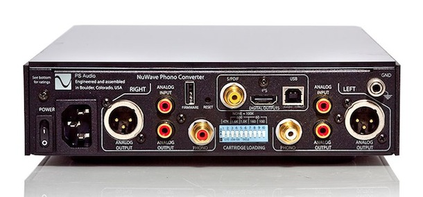 PS Audio NuWave Phono Converter Rear