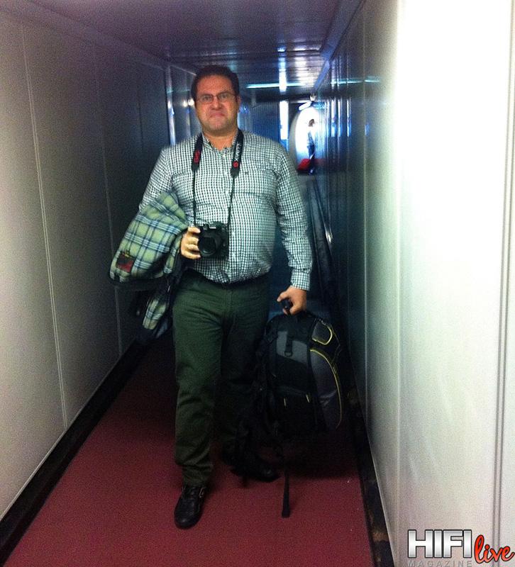 Nuestro querido fotógrafo Alberto Pascual en su llegada a la capital Bávara