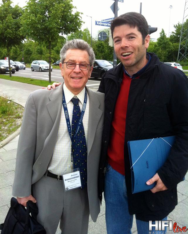 Vino prensa especializada de todo el mundo, aquí junto al gurú analógico Michael Fremer
