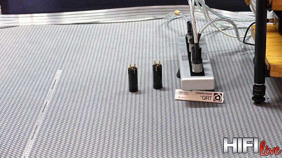 Increíbles mejoras sónicas gracias a la adición en la corriente eléctrica de los filtros Qk1 y Qv2 de Nordost