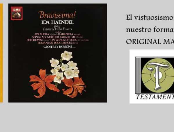 Ida Haendel Geoffrey Parsons A Classical Recital