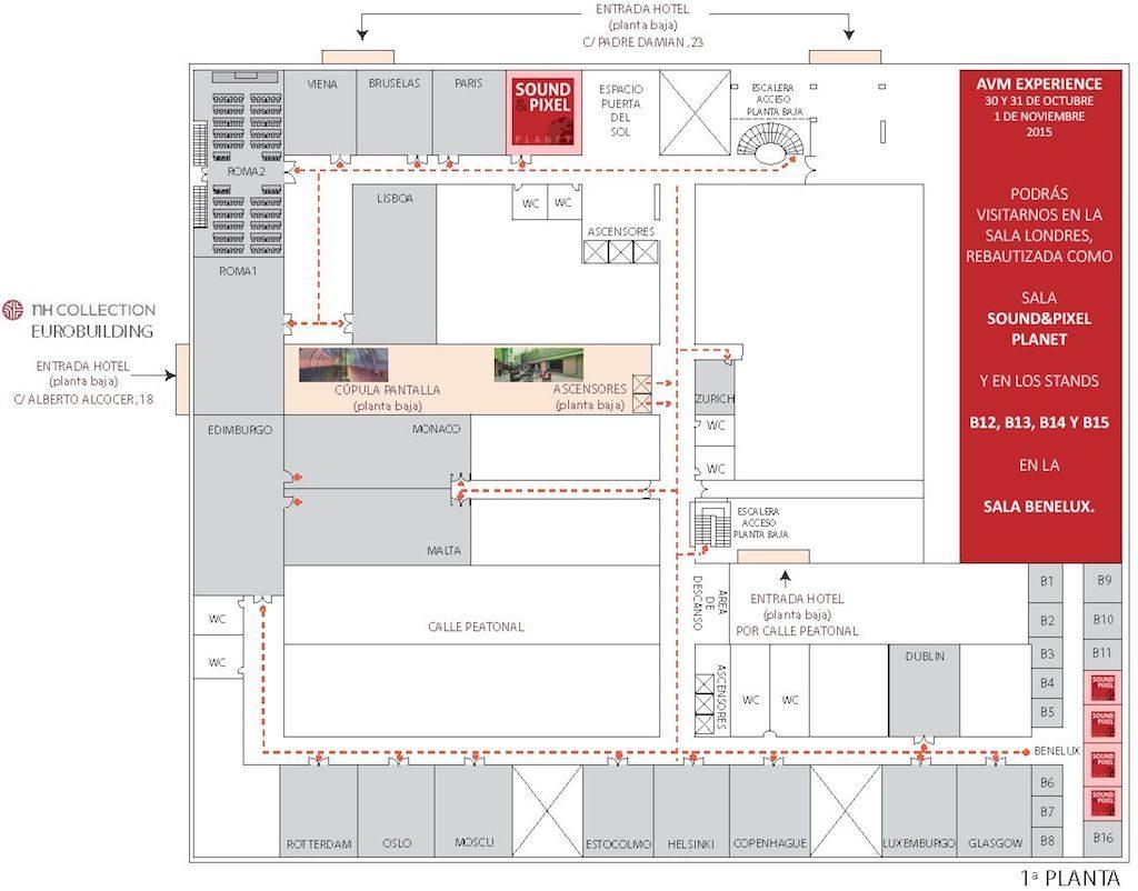 Mapa AVM Experience SoundPixel Planet